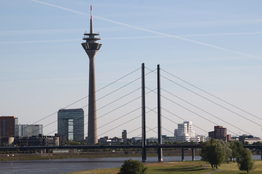 On the Rhine river - Dusseldorf Greeters