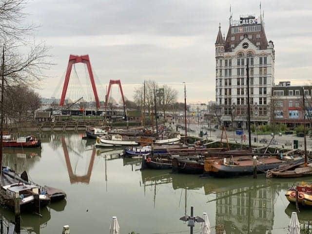 Rotterdam port and skyline