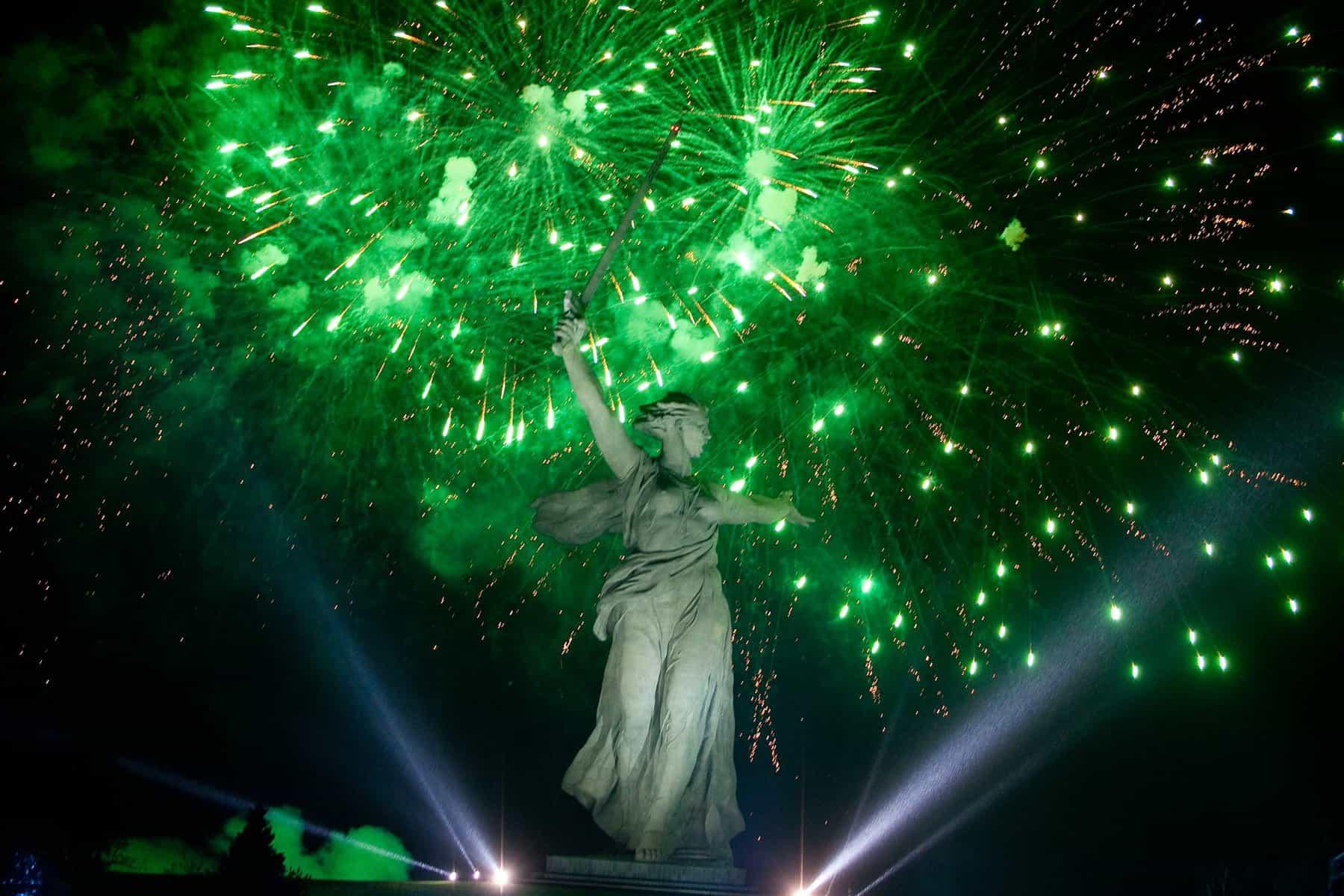 Volgograd fireworks